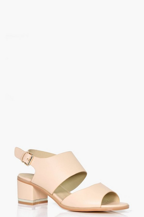 Isla Low Heel Gold Trim Heel Sandal