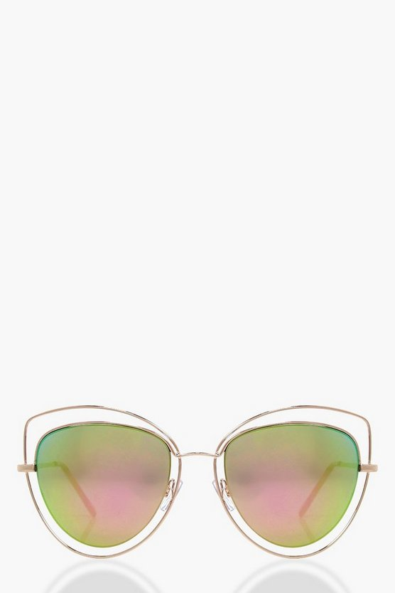 Eva Cut Out Revo Lense Cat Eye Sunglasses