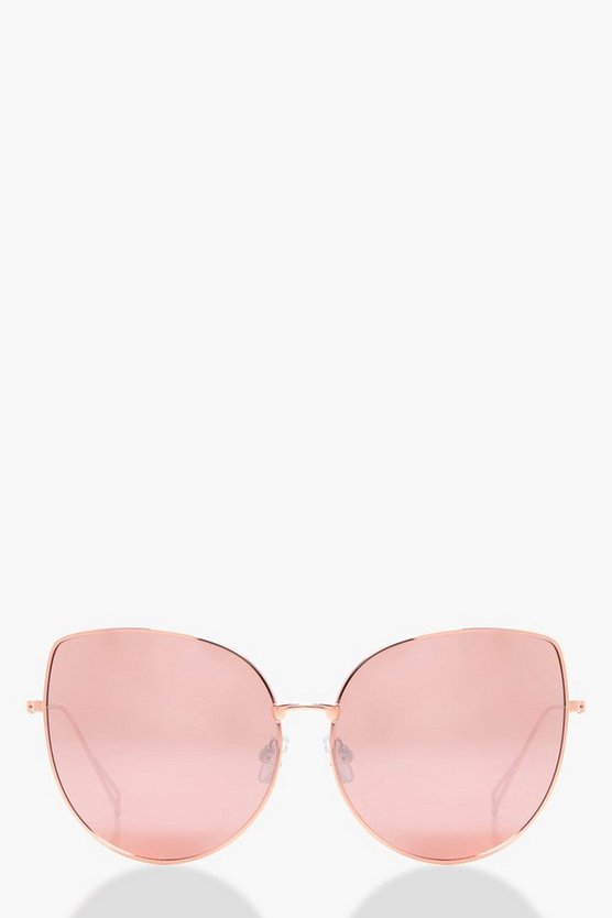 Daisy Rose Gold Cat Eye Sunglasses