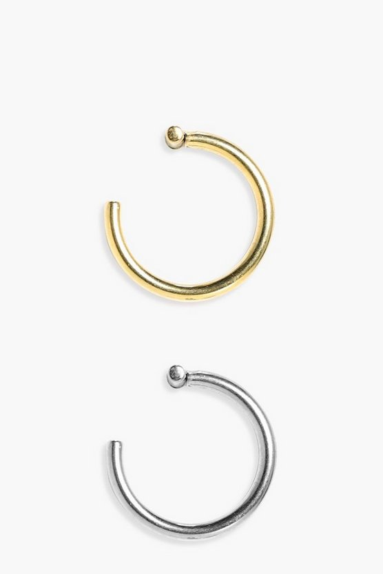 Ana Gold And Silver 2 Pack Removable Lip Ring