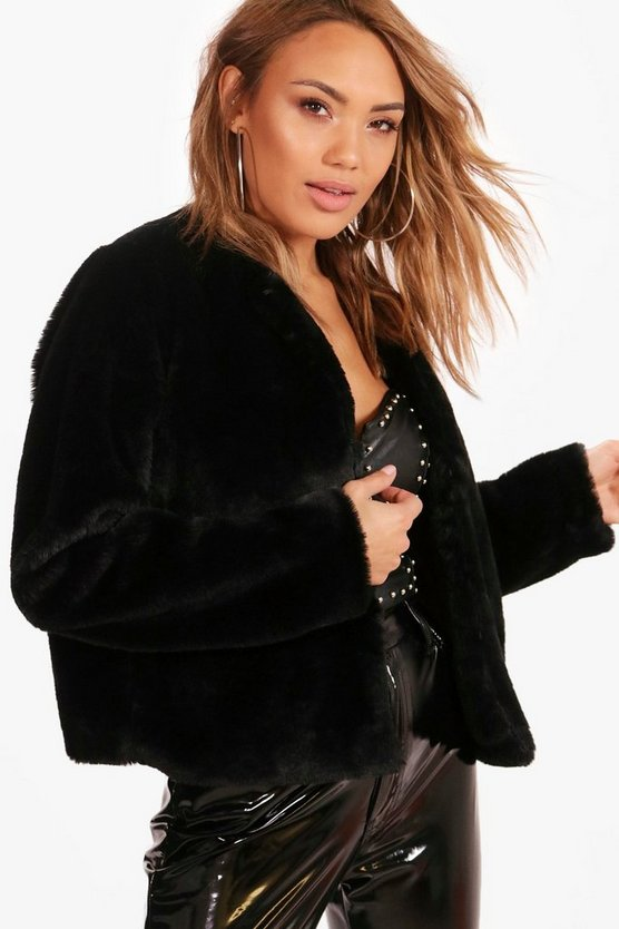 Kerry Crop Faux Fur Coat