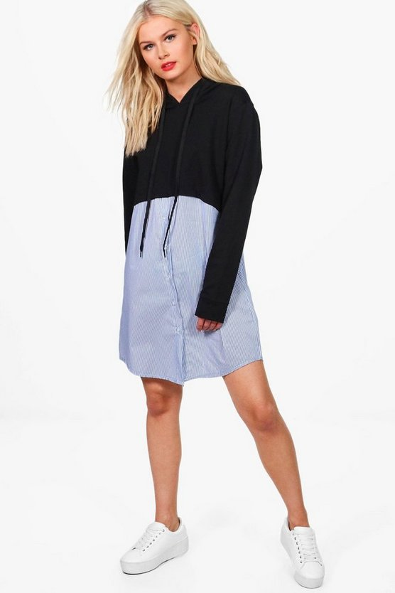Holly Stripe Shirt 2 In 1 Sweat Dress
