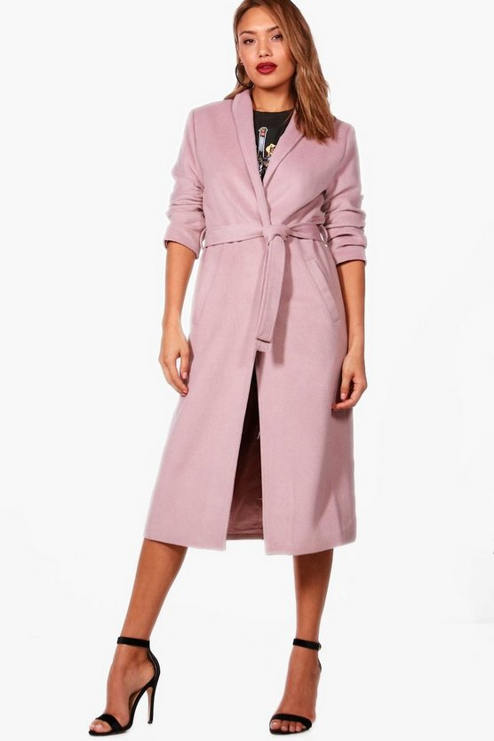 Jade Belted Wrap Maxi Robe Coat