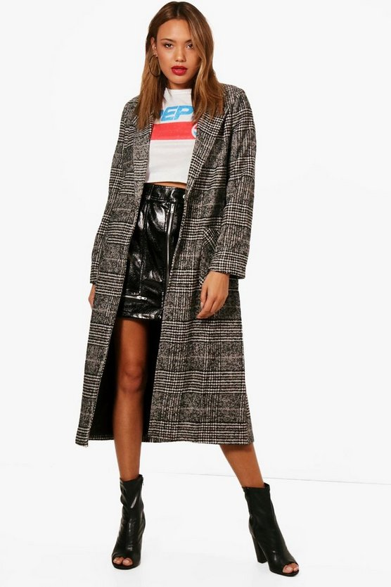 Alexis Long Check Coat