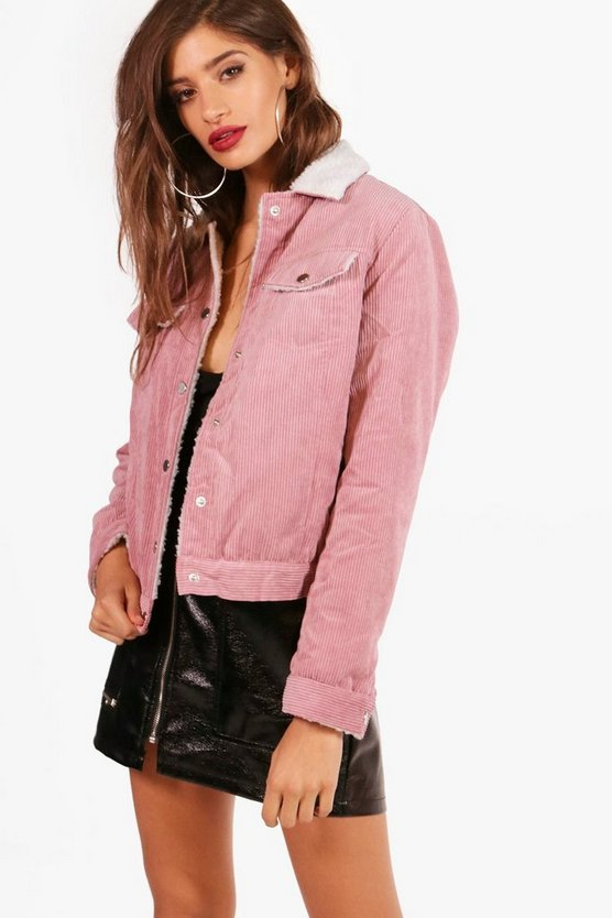 Isabelle Cord Trucker Jacket