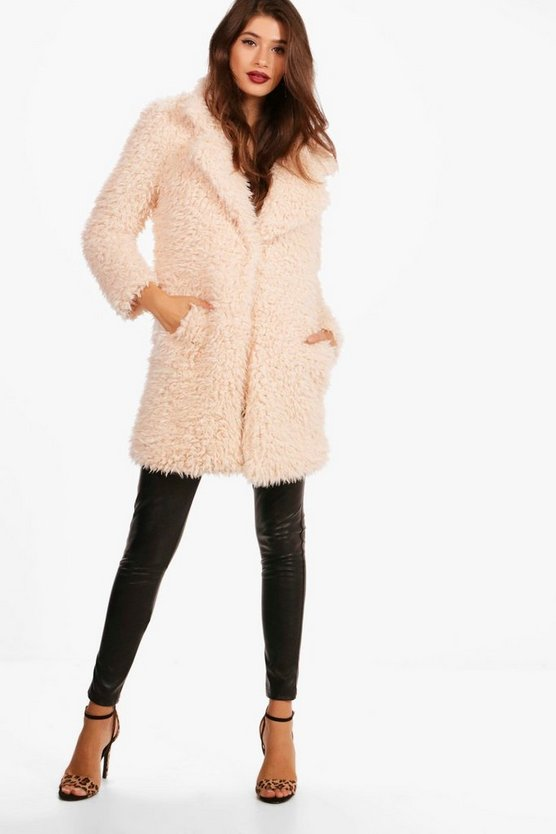 Elizabeth Shaggy Faux Fur Coat