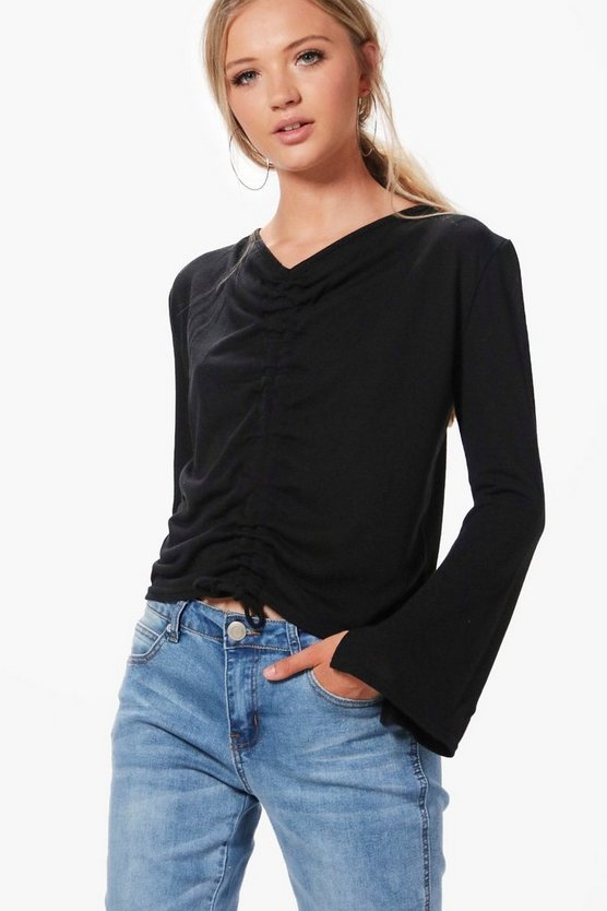 Georgia Ruched Front Knitted Top