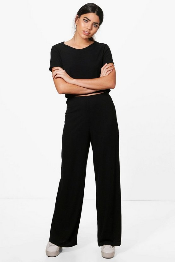 Grace Wide Leg Trouser & Top Knitted Lounge Set