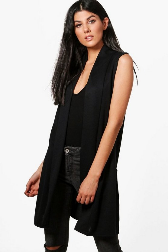 Jennifer Sleeveless Duster Cardigan