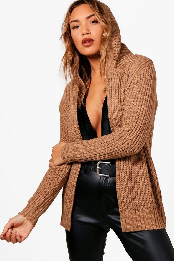 Camille Soft Knit Hooded Cardigan