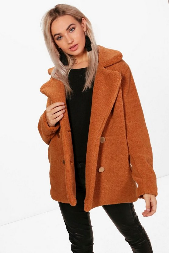 Lauren Double Breasted Teddy Coat