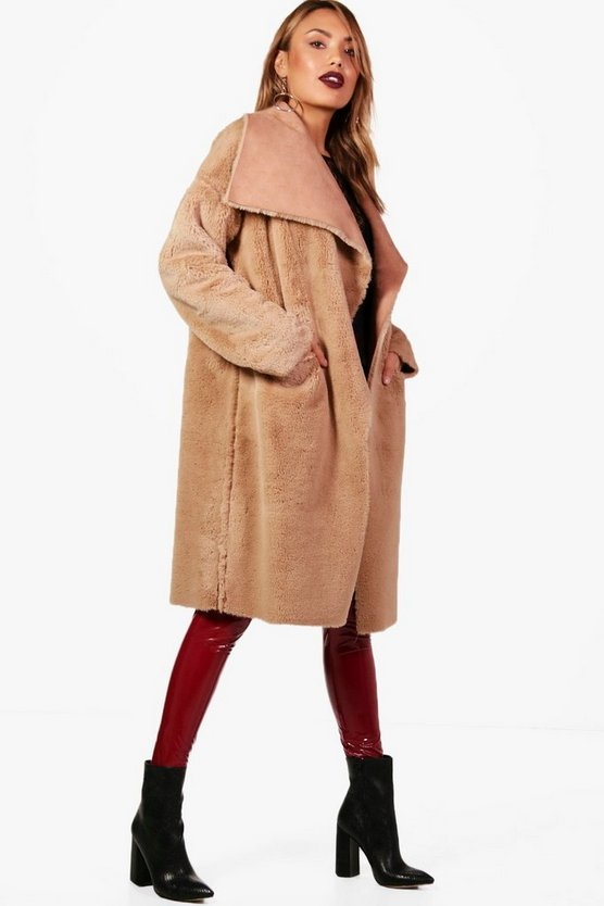Jo Boutique Reversible Faux Fur Bonded Jacket
