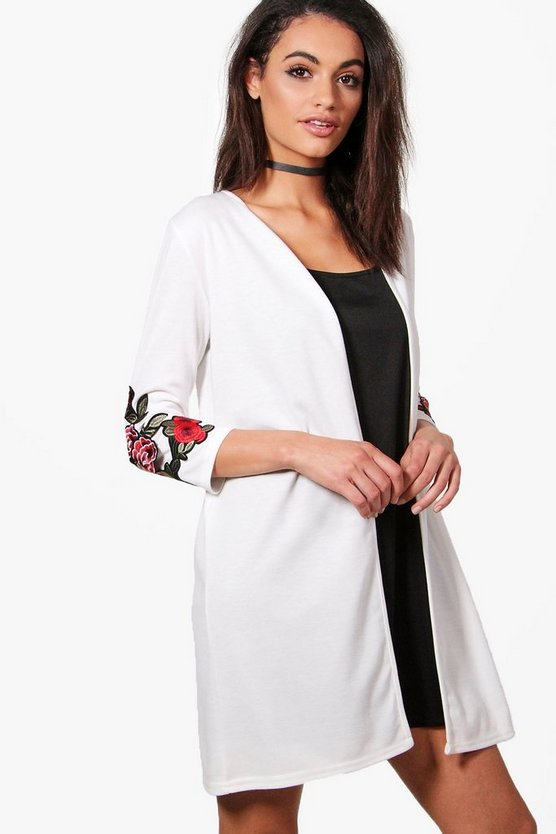 Amelia Embroidered Sleeve Duster