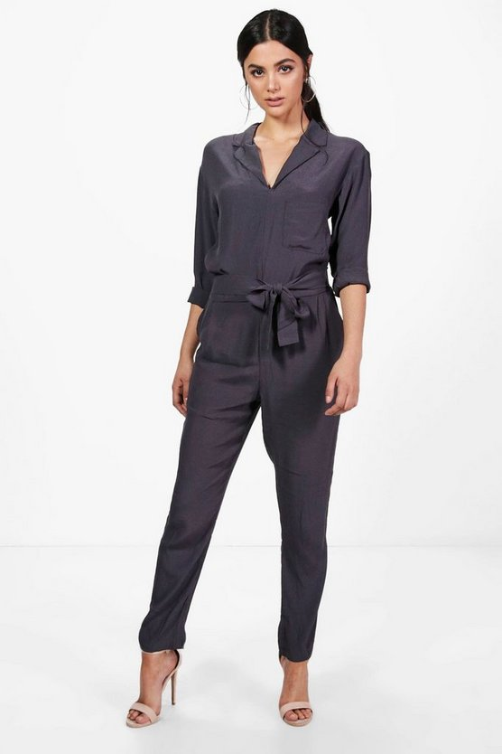 Corrine Collared Jumpsuit