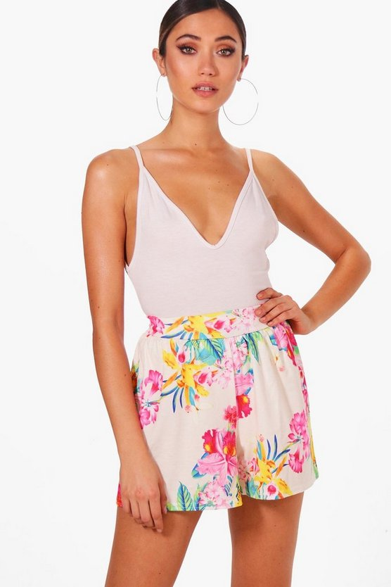 Tilly Tropical Print Flippy Shorts