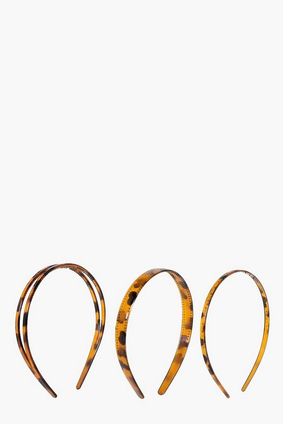 Emilia Tortoise Shell Mixed Headband 3 Pack