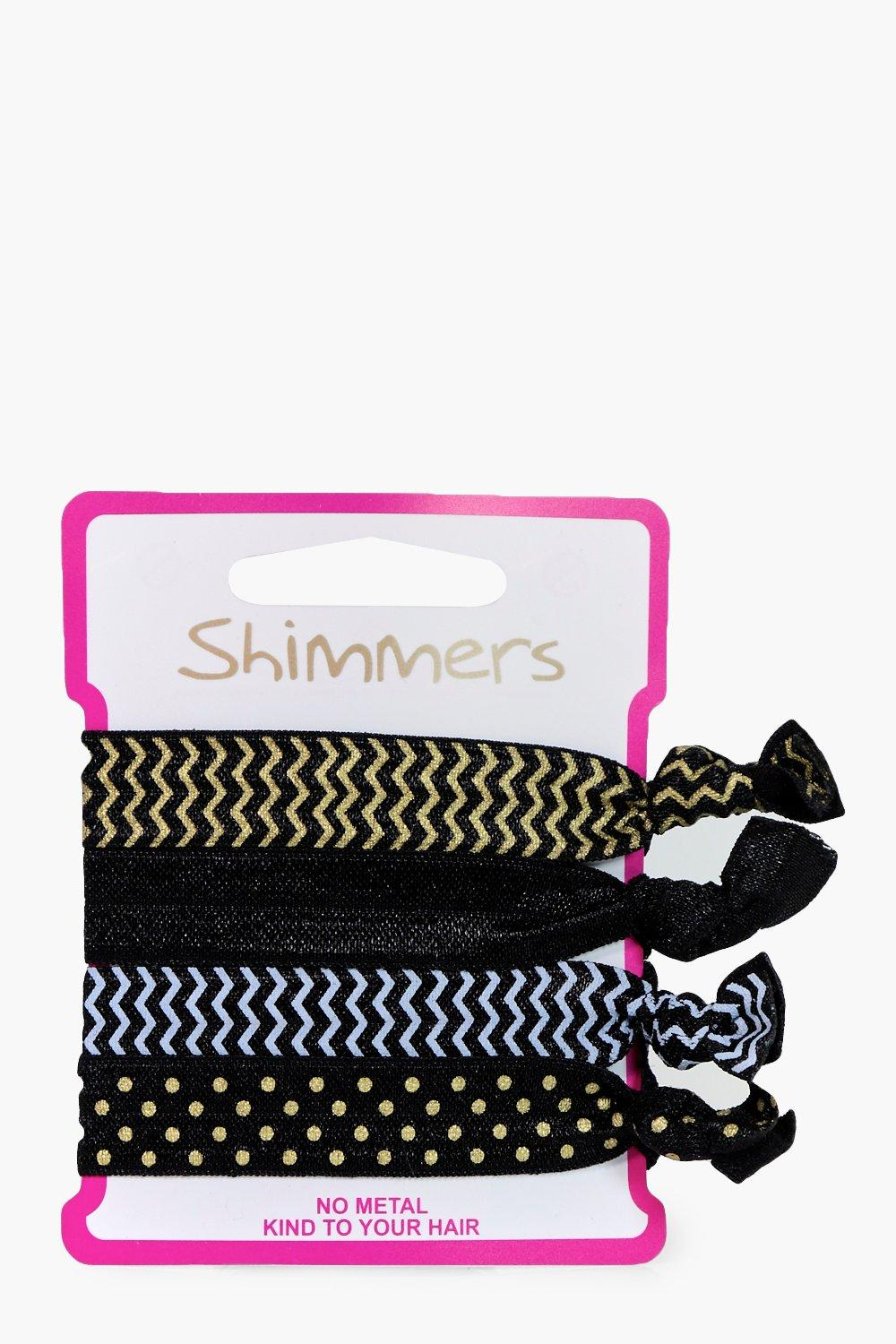 No Snag Hair Bands 4 Pack - black - Leah No Snag H