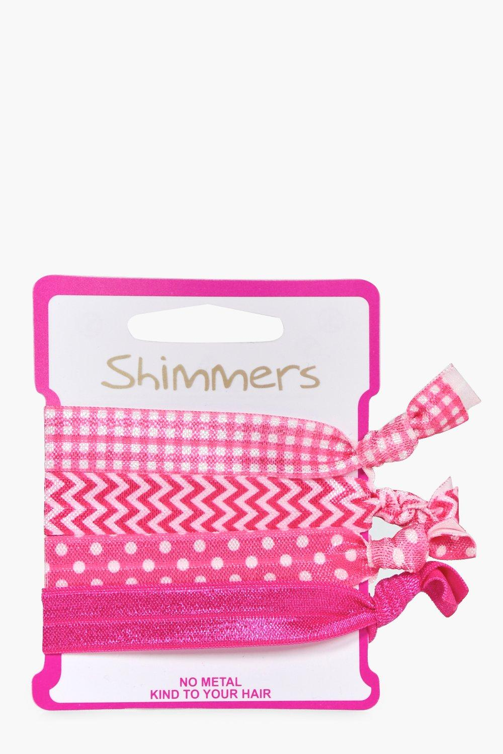 No Snag Hair Bands 4 Pack - pink - Leah No Snag Ha