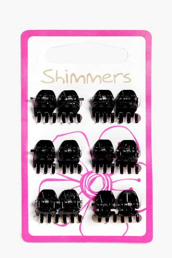 Amber Mini Hair Clips 12 Pack