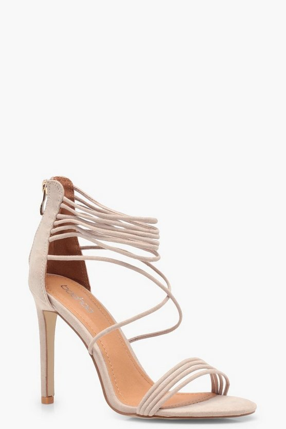 Sophie Multi Strap Cage Ankle Heel
