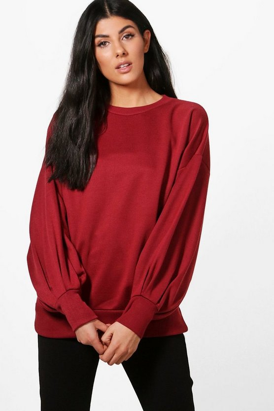 Evie Balloon Sleeve Sweatshirt
