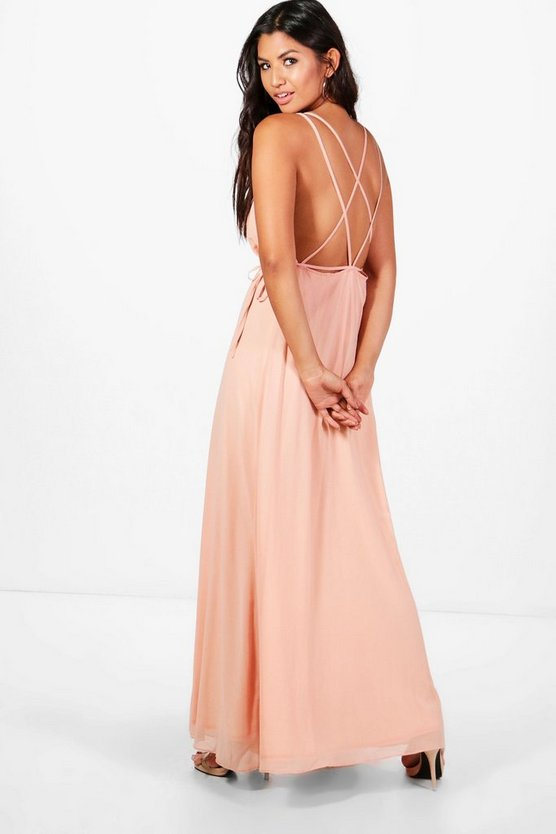 Kaitlyn Chiffon Strappy Back Maxi Dress
