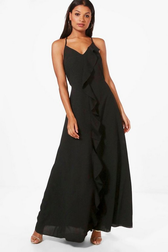 Jenny Frill Detail Strappy Maxi Dress