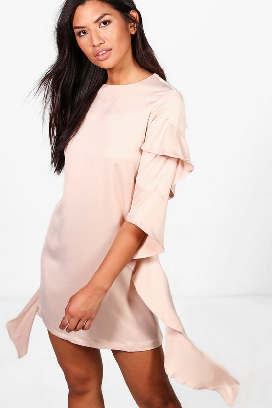 Heather Frill Sleeve Detail Shift Dress