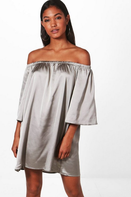Sophie Off Shoulder Shift Dress