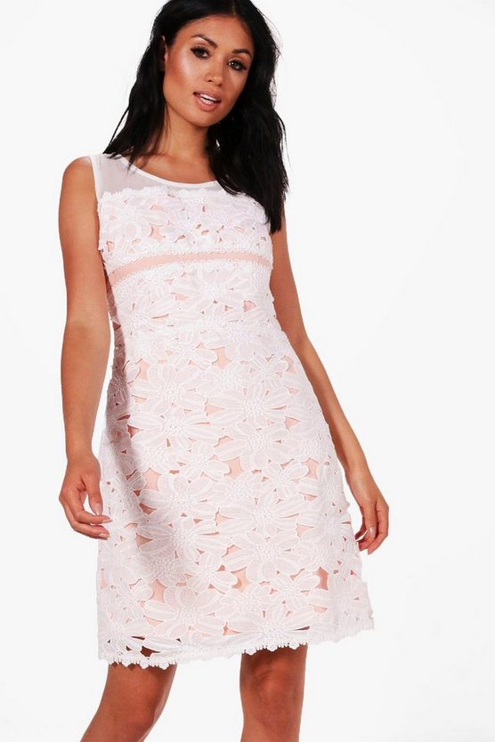 Boutique Lace Contrast Bodycon Dress