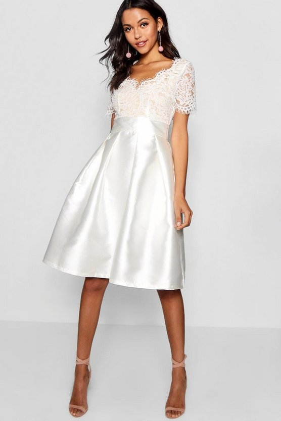 Boutique Fay Eyelash Lace Skater Dress