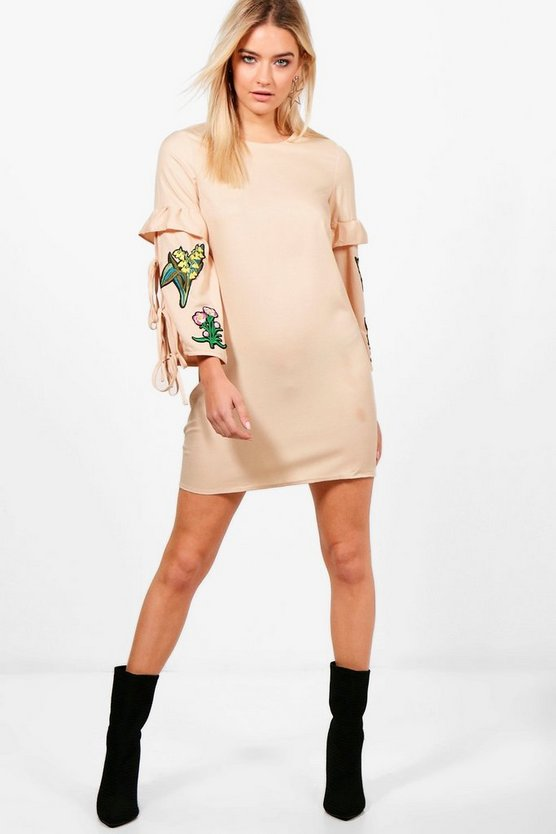 Abigail Embroidered Shift Dress