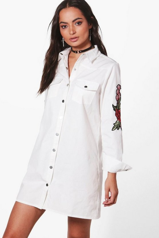 Lizzie Premium Embroidered Shirt Dress