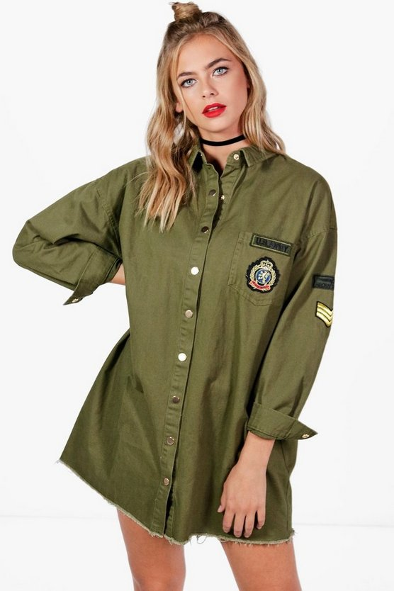 Hollie Military Shirt Dress
