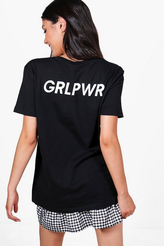 Grace GRL PWR Slogan T-Shirt