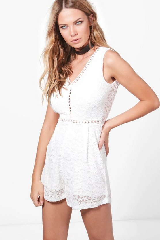 Liz Lace Crochet Insert Playsuit