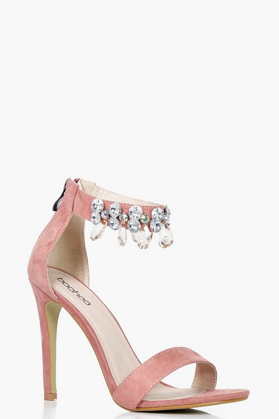 Lexi Embellished Ankle Band 2 Part Heels