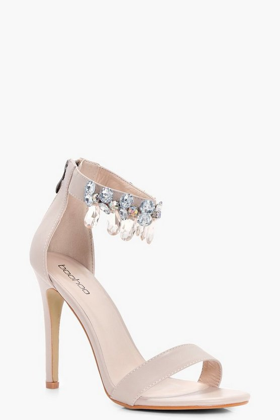 Molly Embellished ankle Band 2 Part Heels