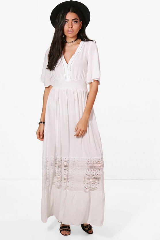 Chelsie Lace Insert Maxi Dress