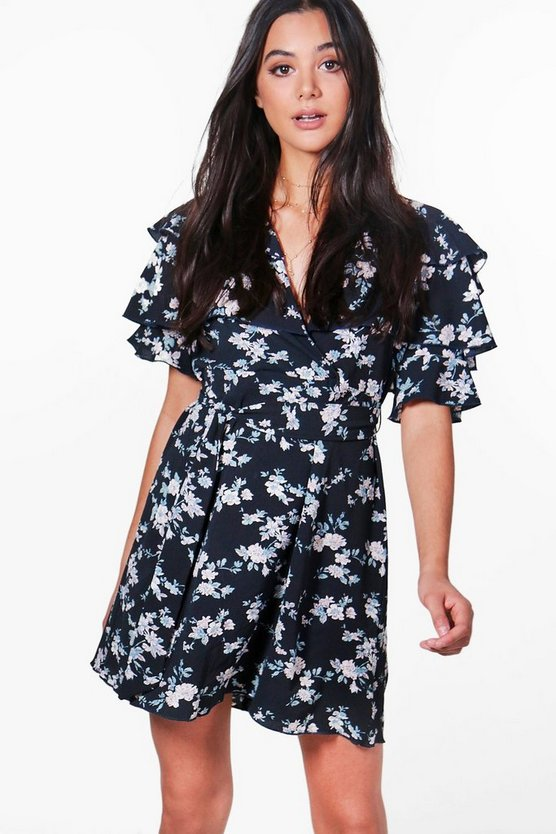 Emily Floral Ruffle Tiered Tea Dress