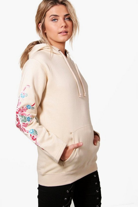 Eliza Embroidered Sleeve Hoody