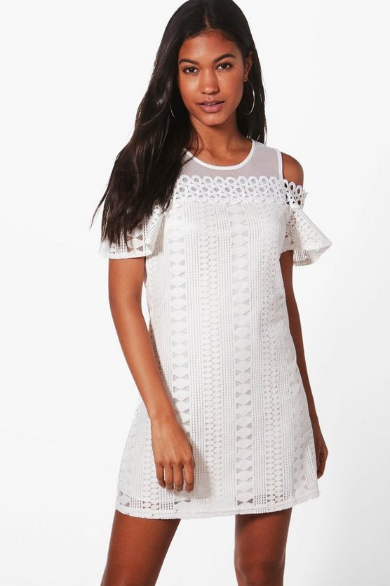 Lizzie Woven Cold Shoulder Dress