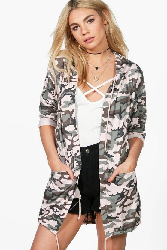Jade Camo Hooded Parka