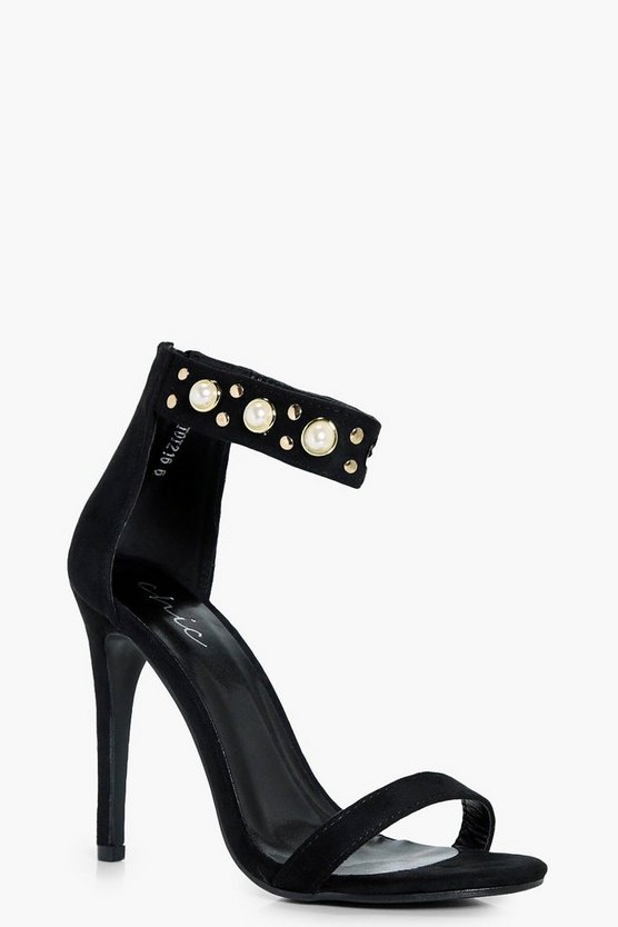 Esme Pearl And Stud Embellished 2 Part Heels