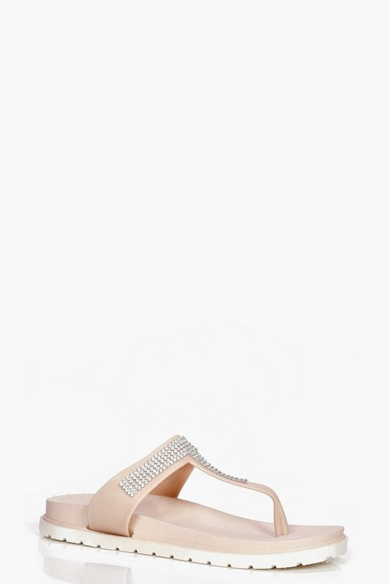 Paige Toe Part Embellished Cleated Slider