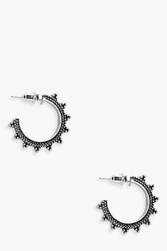 Eastern Bent Hoop Earrings