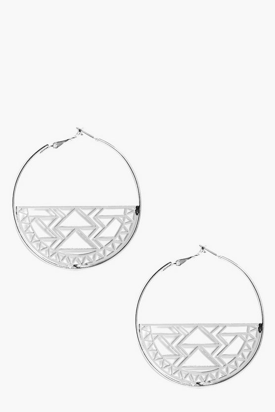 Laser Cut Hoop Earrings