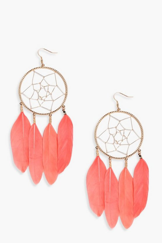 Nina Dreamcatcher Feather Earrings