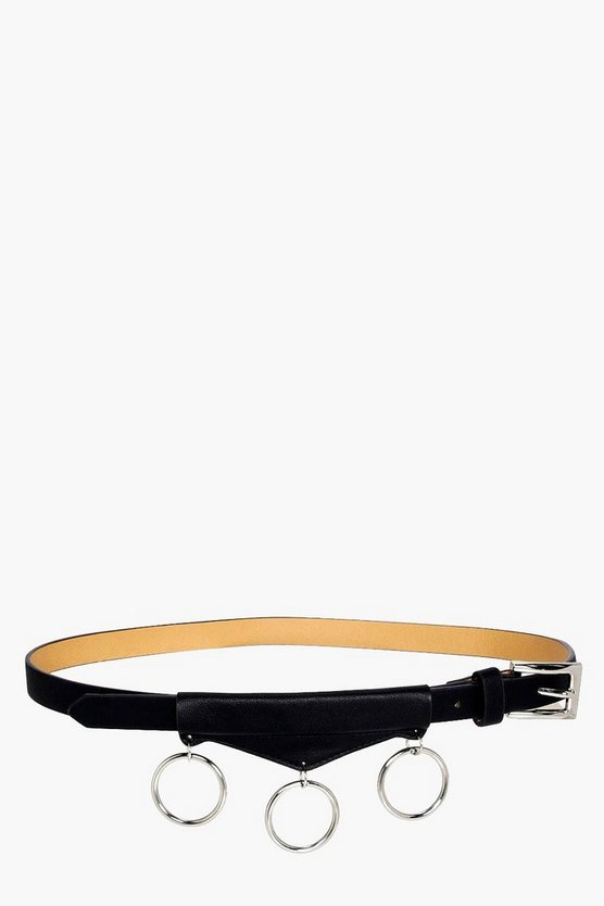 Maddison Circle Rings Detail Boyfriend Belt