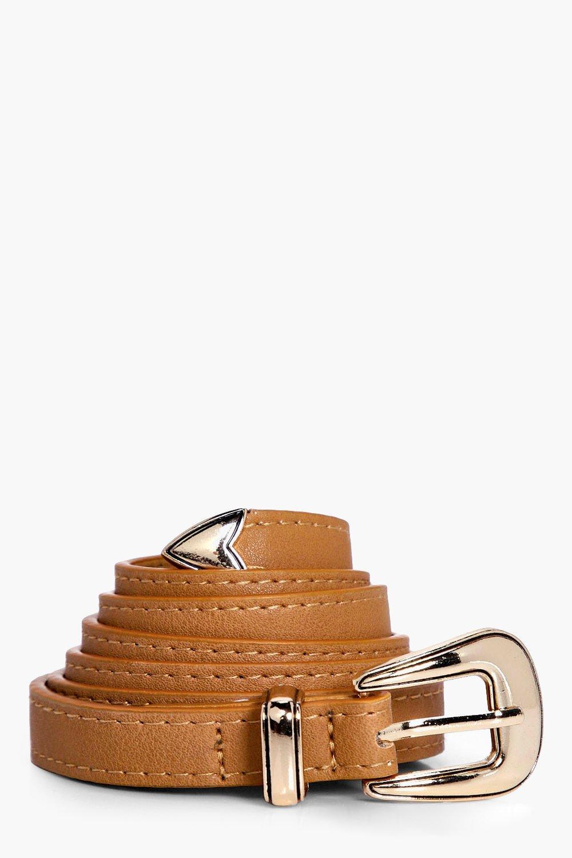 Basic Skinny Belt - tan - Sarah Basic Skinny Belt